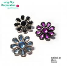 (BR0259~61) cute stone decorated daisy flower brooch for girl's wear