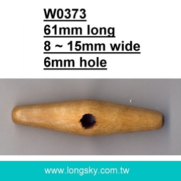 (#W0373) fashion one hole wooden toggle for winter coat
