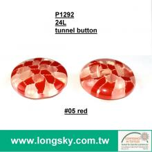 (#P1292-05) 2015 custom made fashion show designer plastic red round clothing buttons