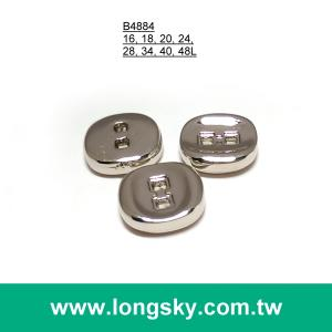 (#B4884) square sewing hole square shape designer shiny silver suit button