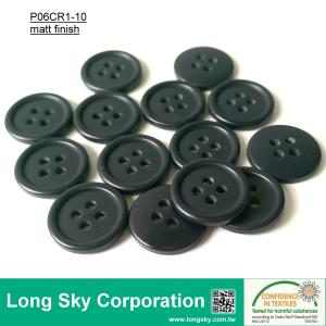 (#P06CR1-10) 15mm dark navy color 4 holes sewing on polyester resin button for pants