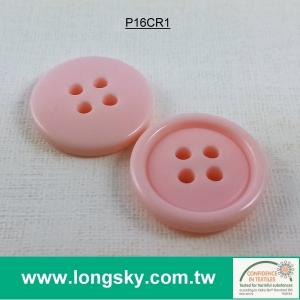 (#P16CR1) jelly pink plastic polyester resin girl sleepwear button