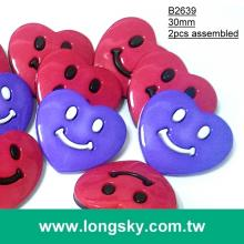 (#B2639/30mm) cute big red kid carton coat buttons for child
