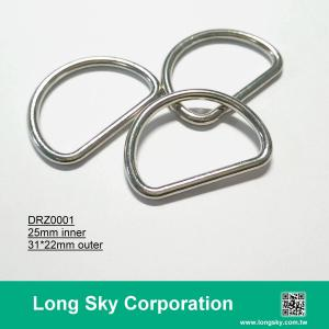 (#DRZ0001/25mm inner) classical silver D shape ring buckle for strap belt