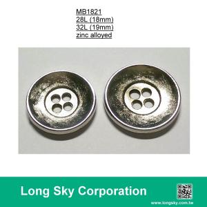 (MB1821/32L) 4-holes nickel colour metal button for suit coat