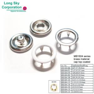 (MB1604 ) Metal Ring Top Prong Snap Buttons for babies and toddlers