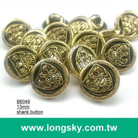 (#B6049/13mm) royalty style small shank button for short coat