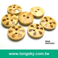 (#W0246) Kids custom decorative logo engraved wooden craft buttons for children
