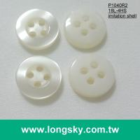 (P1040R2) 18L 4 hole cream popular imitation shell workwear and polo shirt button