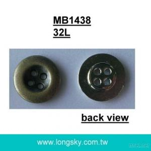 (MB1438/32L) 20mm metal 4 holes sewing button for coats