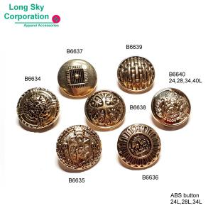 ( B6634~ B6640 ) 24L, 28L, 34L ABS antique gold suits coat button