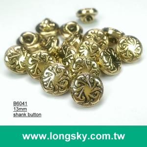 (#B6041/13mm) Taiwan fashion plated cloud pattern small shank buttons for garment