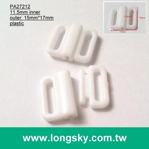 (#PA27212/11.5mm inner) plastic couple hook for front festening bra, front clasp bra
