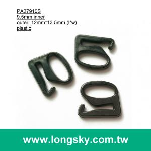 (#PA27910S/9.5mm inner) plastic e shape buckle for bustier strap