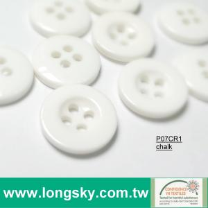 (#P07CR1) white plastic shiny baby shirt button children sweater buttons