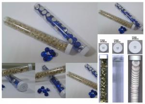 button tube, ornaments tube for accessory wholesaler and retailer (#PT0000/20mm width*200mm long)