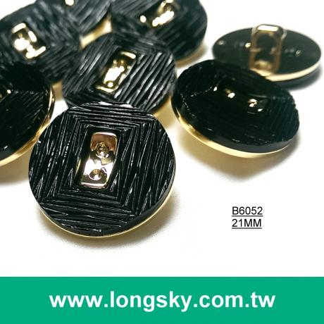 (#B6052/21mm) 2 pieces fashion show black ladies garment combination shank clothes button