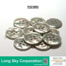 (#P2318R2) 32L Fancy Imitation MOP Shell Polyester Resin Button for Lady Suit