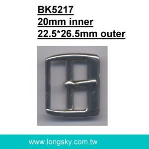 Square metal belt pin buckle (#BK5217/20mm inner)