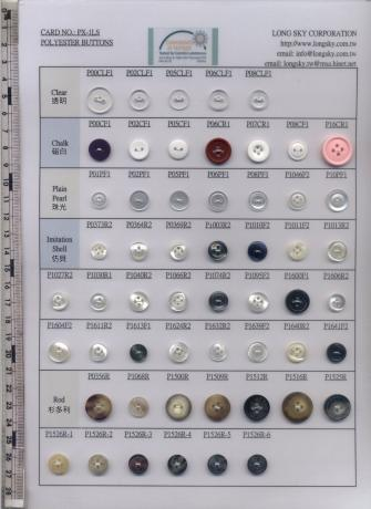 Classical resin polyester button finishes for garments
