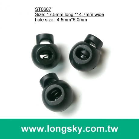 (#ST0607) Fashion ball type cord lock, plastic spring cord stopper