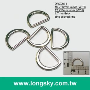 "(#DRZ0071/12.7mm) metal belt d ring for 1/2"" strap"