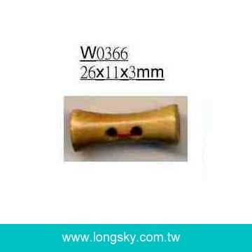 (#W0366) Small drum shape clothing wooden toggle coat buttons
