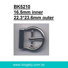 U-shaped Zinc belt buckle with prong (#BK5210/16.5mm inner)