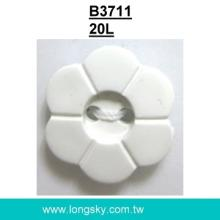 (#B3711/20L) dyeable 2 holes flower shape nylon buttons for craft