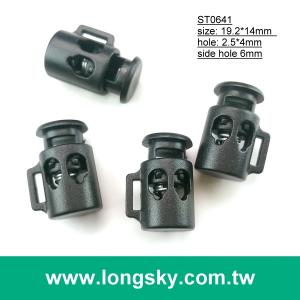 (#ST0641) cord hole 4mm small mini double hole mug look cord stopper with slot garment accessory