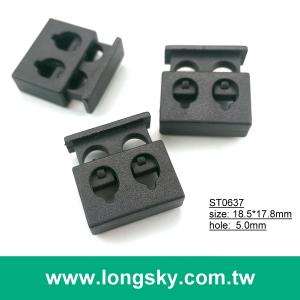 (#ST0637) cord hole 5mm rectangle single hole cord stoppers for coat