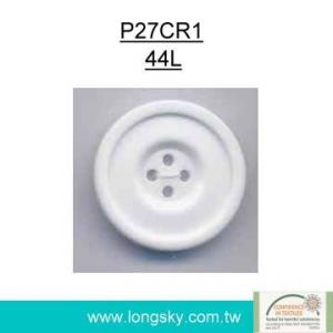 (#P27CR1) 44L Classical large polyester resin chalk button for coat