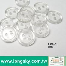 (#P06CLF1) 16L clear polyester resin button for children sweater