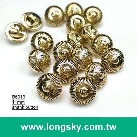 (#B6019/11mm) anthentic plated plastic 17L small buttons for dress shirt from Taiwan