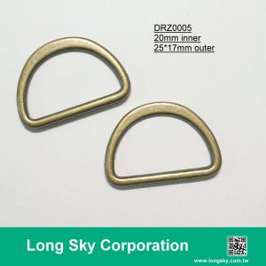 (#DRZ0005/20mm inner) flat D shape ring buckle for fabric belt