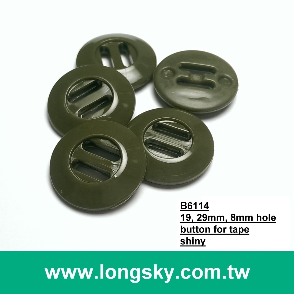 (#P1102) Customized military 2 big wide hole plastic button