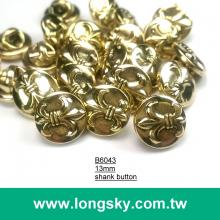 (#B6043/13mm) Taiwan made lance pattern small shank buttons for youngs shirt