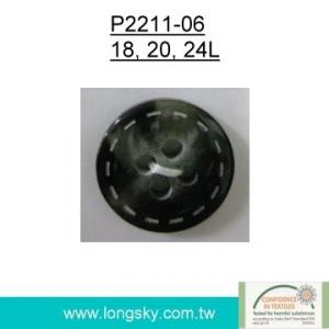 Popular Rod Polyester Resin Button (#P2211-06)