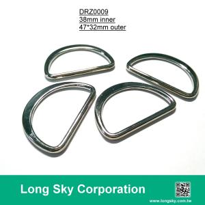 (#DRZ0009/38mm inner) nickel silver d ring buckle for fabric strap belt