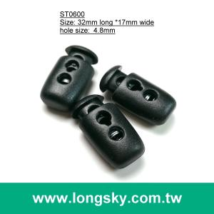 (#ST0600) fashion 2 hole plastic cord lock for garment accessories