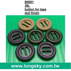 (#B5001) 18mm dull green military BDU 8mm slot hole button