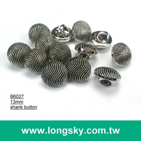 (#B6027/13mm) antique silver wave pattern plastic abs shank button for young girls dress