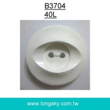 (#B3704/40L) 2 hole eye pattern plastic button for fashion clothing