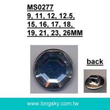 (#MS0277) Fashion apparel use metal shank button with acrylic stone