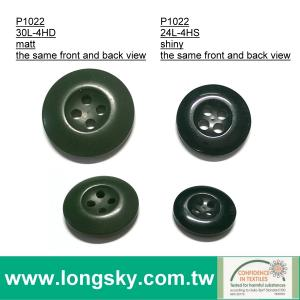 (#P1022-4H)30L, 24L 4 hole green, black, navy color military BDU uniform pants buttons