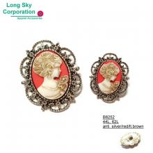 (#B8252) 28mm, 40mm (44L, 62L) lady suit cameo buttons