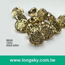 (#B6048/13mm) royal style small shank decorative button for clothing