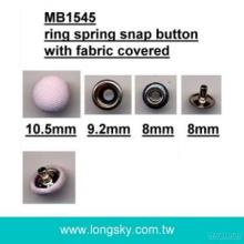 (#MB1545/10.5mm) Spring snap button with fabric covered for Knitted garments