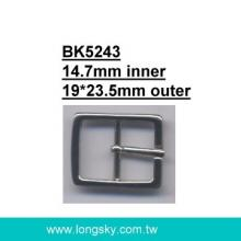 Square small clothing buckle with prong (#BK5243/14.7mm inner)