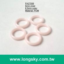 (#PA27006/6mm inner) plastic o shape ring for bra strap or bikini strap